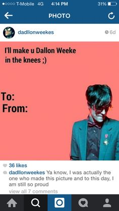 Jelling Quinn Valentineu0027s Day Card. To: Everyone :D Your Welcome. Uh Huh.  Uh Huh. Fall Out Boy ❤