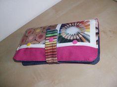 Trousse d'écolier à double compartiments , rose fushia en toile imperméable…