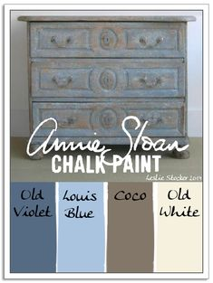 COLORWAYS The layering of Annie Sloan Chalk Paint for a Nordic Blue