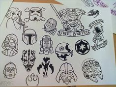 My drawing. Old school traditional tattoo star wars style