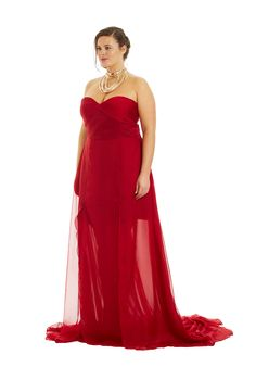 This stunning dress would go great with any of these hot red shoes.