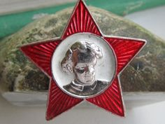 Soviet Vintage  Pin  Russia Soviet union USSR  red by VintageEuro, $5.95