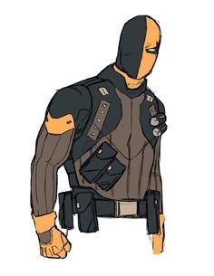 Kris Anka & Zac Roane Are The 'Agents Of Redesign' [Art] Dc Deathstroke, Deathstroke The Terminator, Comic Book Artists, Comic Artist, Comic Books Art, Superhero Characters, Dc Comics Characters, Comic Character, Character Design