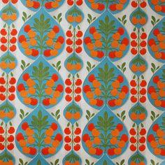 Seventies vintage wallpaper  50 cm. par FrauSvensson sur Etsy, $9.00