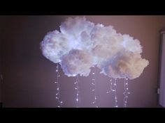 ▶ DIY Cloud Light - YouTube. Seems they used a twinkles, too. So it's almost like lightning illuminating the inside of the cloud.