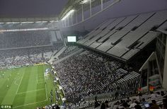 The Arena Corinthians - where England play Uruguay - hosted its first match in May.