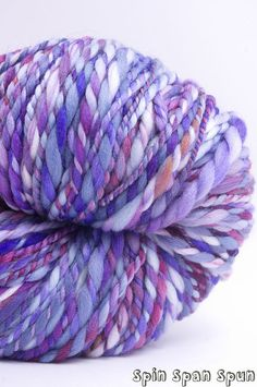 This Single Night, Huge Skein, Handspun Handpainted Organic Merino Yarn, appr. 220 yards, heavy worsted to bulky weight by SpinSpanSpun on @Etsy