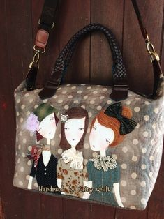 photo only Japanese Patchwork, Japanese Bag, Patchwork Bags, Quilted Bag, Hand Applique, Applique Quilts, Fabric Boxes, Newspaper Crafts, Patch Quilt