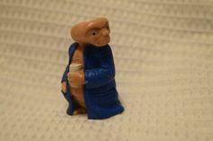 "Vintage 1982 E.T. Holding Beer Can PVC Plastic Action Figure ET in Blue Shirt 2"" #UniversalStudios"