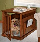 Pet gets his bed...you get a handsome end table and no loss of space to an ugly carrier. When the day comes...