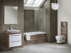 i-Line bathroom furniture in Durham Oak from Utopia Bathrooms. Modular Cabinets, Modular Furniture, Bathroom Furniture, Planer, Durham, Bathrooms, Lighting, Bathing, Closet