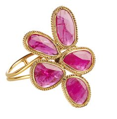 Gajner ring in 18k gold with 4.55 cts. t.w. rubies; $2,400 #Gajner #gold #rubies