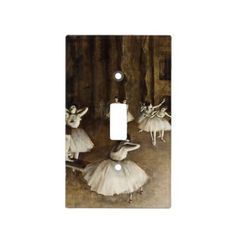 Edgar Degas - Ballet Rehearsal On Stage Light Switch Cover - vintage romantic gifts ideas diy