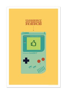 Gameboy, pop culture art by Andrew Heath