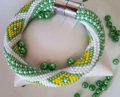 White crochet jewelry-Colorful bracelet-White