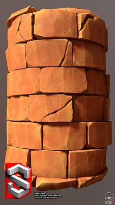 ArtStation - Stylised Bricks - Substance Doodle, Daniel Swing