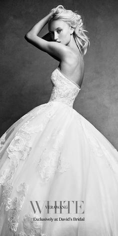 Brand new White by Vera Wang designer wedding dresses have arrived at David's Bridal. Come find the one for you!