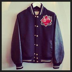 This weekend we'll be wearing Maison Kitsune's varsity jacket.... JACKETS FW 2014