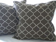 Decorative brown pillow cover  Tile trellis Ogee Print by MicaBlue, $32.00