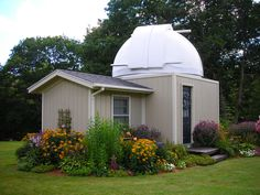 Backyard Observatory - shed observatory - homemade DIY observatory Astronomical Observatory, Ranch Vacations, Space And Astronomy, Stargazing, Telescope, Custom Homes, Shed, New Homes, Backyard