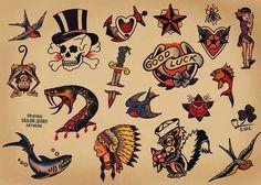 old school traditional tattoos - חיפוש ב-Google                                                                                                                                                     More