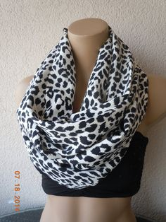 black ivory  women scarf.fashion infinity scarf cowl by coolscarf