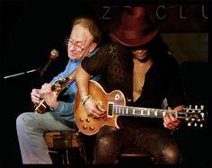 Les and Slash jamming at the Iridium in 2001