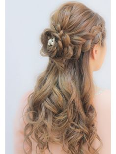 Sweet Hairstyles, Open Hairstyles, Kawaii Hairstyles, Bride Hairstyles, Pretty Hairstyles, Cool Haircuts For Girls, Cabello Hair, Hair Arrange, Japanese Hairstyle