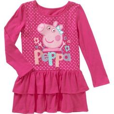 Toddler Girls Peppa Pig Pink Ruffle Dress New with Tags Size Nick Jr Kids Toddler Outfits, Girl Outfits, Toddler Girls, Pink Ruffle Dress, Ruffles, Square Pants, Peppa Pig, Cute Tops, New Dress