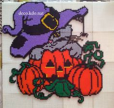 Cat Halloween hama perler beads by DECO.KDO.NAT