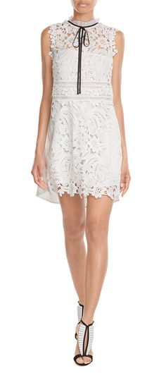 Self Portrait - Watteau Back Lace Mini Dress | STYLEBOP.com