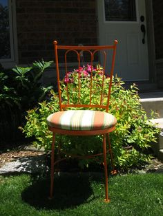 Mid Century Wrought Iron Priscilla Hauser Garden Chair