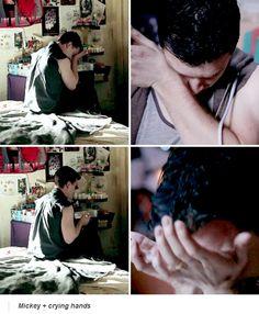 mickey + crying = amazing actor!
