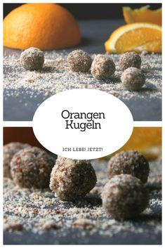 Saftige Orangenkugeln aus gemahlenen Mandeln, Orangensaft und Datteln.  #orangenkugeln #zimt #weihnachtskugeln #lecker #glutenfrei