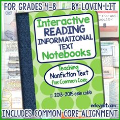 I have finally uploaded the comprehensive update for the Interactive Reading Informational Text Notebooks!