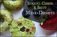 Broccoli, cheese, and bacon mini-donuts? Yes, mini-donuts. Why? Why not! This is such a fun recipe...