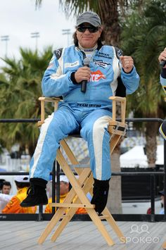 Brian Johnson of AC/DC appears during testing for Rolex Sports Car Series 'Rolex 24' at Daytona International Speedway
