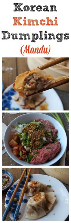 What is it? Steamed or fried dumplings.If you've ever tried potstickers, Korean mandu are basically the same thing, but with thinner skin. They're filled with everything from pork to cabbage and carrots. Recipe here.