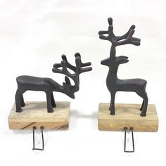 Hang your stockings with care on these wonderful St. Nicholas Square reindeer stocking holders. #AllTogetherNow