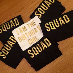 Birthday Girl Squad Shirts
