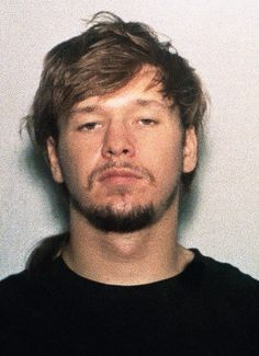 Donnie Wahlberg is shown in a police mug shot after his arrest on an arson warrant on April 2, 1991 in Louisville, Kentucky.