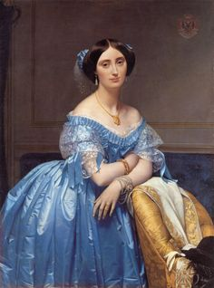 "Jean Auguste Dominique Ingres ""Portrait of the Princess de Broglie"" 1853 Oil on canvas, Metropolitan Museum of Art, New York"