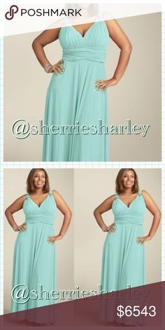 🆕Coming Soon👗Lovely Soft Blue Evening Dress Soft Blue V-neck Evening Dress to flatter your curves. Plus Size 20W. This item is NEW I will update measurements soon. 👗 Dresses