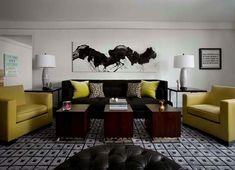 displaying-large-artwork-michael-rosenberg - Home Decorating Trends - Homedit Living Area, Living Spaces, Living Rooms, James Nares, Large Artwork, Interior Decorating, Interior Design, Decorating Ideas, Craft Ideas