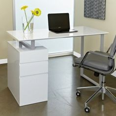 Tribeca Study Desk with Drawers Image