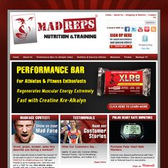 "The place to buy MadReps Performance Bars and ""Healthy for you cakes!"""