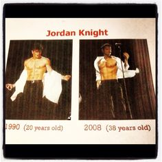 Jordan Knight then and now!