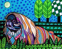 50% Off Code ACORN50 - Pekingese Art dog Poster Print of painting by Heather Galler (HG750)