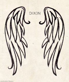 O: so cute and simple! Oooo! And based off one of my fav characters vest patches. Daryl Dixon - Angelica Fineman and. Sara Weation Boyd got, there tattoos wings together
