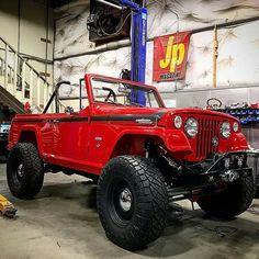 Jeep Comando in red Cj Jeep, Jeep Suv, Jeep Truck, Jeep Garage, Auto Jeep, Jeep Willys, Jeep Pickup, Jeep Scrambler, Jeepster Commando